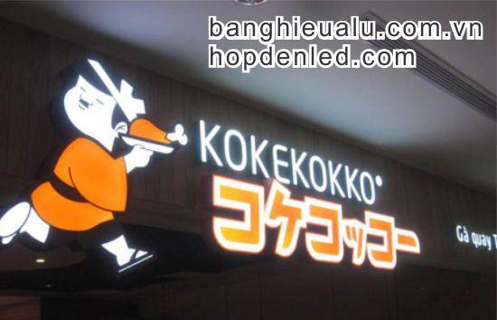 bảng quảng cáo chữ mica đèn led