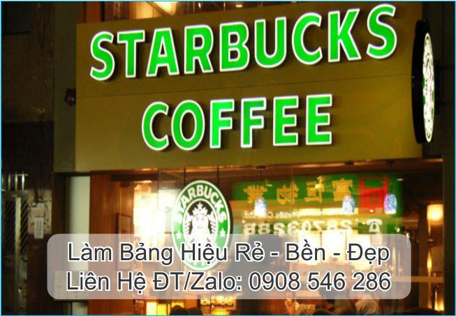 bảng hiệu alu quán coffee