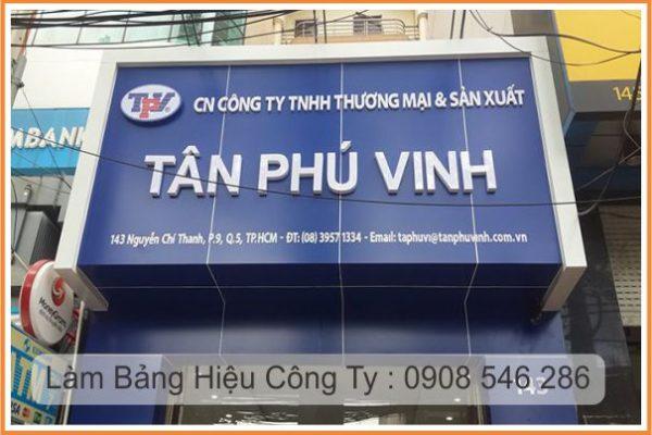 bảng hiệu công ty tân phú vinh